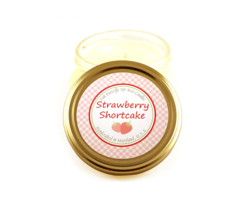 Strawberry Shortcake Soy Candle in Glass Container