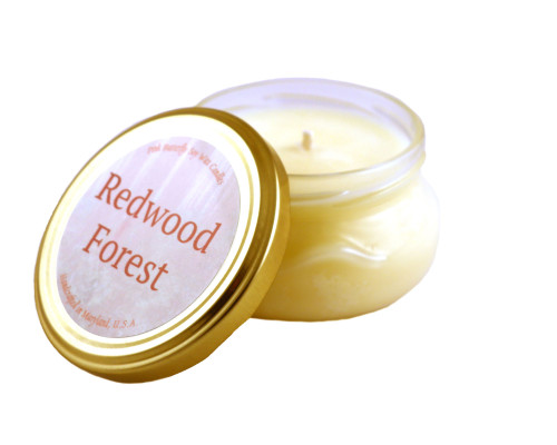 Redwood Forest Soy Candle in Glass Container
