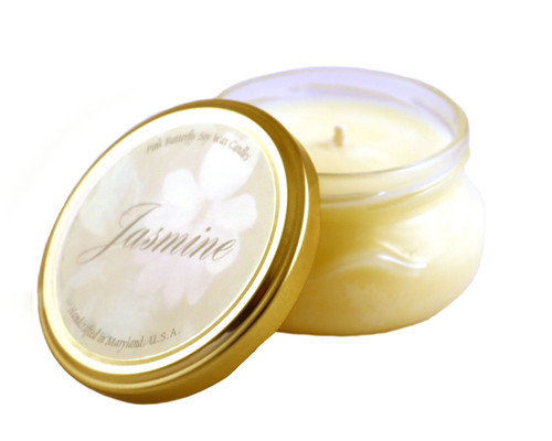 Jasmine Soy Candle in Glass Container