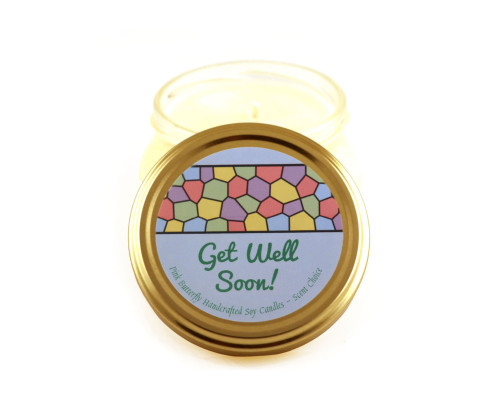 Get Well Soon Spring Soy Candle with Scent Choice in Glass Container