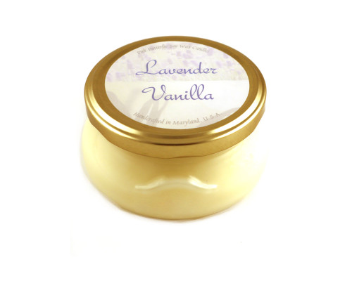 Lavender Vanilla Soy Candle in Glass Container