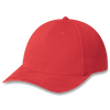 Red - Heavyweight Brushed Cotton Drill Cap | Hats&Caps.ca