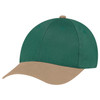 Tan/Forest Green - 5D398M Dual Colour Brushed Cotton Drill Cap | Hats&Caps.ca