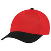Black/Scarlet Red - 5D398M Dual Colour Brushed Cotton Drill Cap | Hats&Caps.ca