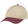 Burgundy/Earth - 5D398M Dual Colour Brushed Cotton Drill Cap | Hats&Caps.ca