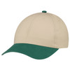 Forest Green/Earth - 5D398M Dual Colour Brushed Cotton Drill Cap | Hats&Caps.ca