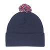 Navy/Red/White - 9E064M Tri-Coloured Pom Pom Toque | Hats&Caps.ca