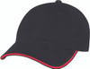 Black/Red - Heavyweight Cotton Constructed Full-Fit Cap | Hats&Caps.ca