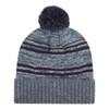 Charcoal/Navy - 9G087M Acrylic / Polyester Micro Fleece Cuff Toque (Pom Pom 8cm) | Hats&Caps.ca
