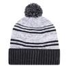 Black/White - 9G087M Acrylic / Polyester Micro Fleece Cuff Toque (Pom Pom 8cm) | Hats&Caps.ca
