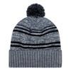 Charcoal/Black - 9G087M Acrylic / Polyester Micro Fleece Cuff Toque (Pom Pom 8cm) | Hats&Caps.ca