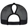 Black, Back - 5970L Women's Polycotton / Nylon Mesh Cap | Hats&Caps.ca