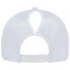 White, Back - 5970L Women's Polycotton / Nylon Mesh Cap | Hats&Caps.ca