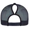 Navy - Back,  5970L Women's Polycotton / Nylon Mesh Cap | Hats&Caps.ca