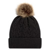 Black/Beige - 9L594L Acrylic Cuff Toque | Hats&Caps.ca