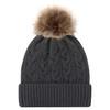 Charcoal/Beige - 9L594L Acrylic Cuff Toque | Hats&Caps.ca