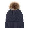 Navy/Beige - 9L594L Acrylic Cuff Toque | Hats&Caps.ca
