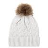 White/Beige - 9L594L Acrylic Cuff Toque | Hats&Caps.ca