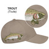 Trout - 5849M 6 Panel Constructed Full-Fit (Wildlife) Cap | Hats&Caps.ca