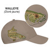 Walleye - 5849M 6 Panel Constructed Full-Fit (Wildlife) Cap | Hats&Caps.ca