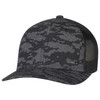 Black/Black - 8G017M Cotton Drill/Nylon Mesh Cap | Hats&Caps.ca