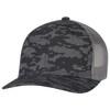 Black/Slate - 8G017M Cotton Drill/Nylon Mesh Cap | Hats&Caps.ca