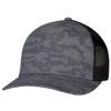 Charcoal/Black - 8G017M Cotton Drill/Nylon Mesh Cap | Hats&Caps.ca