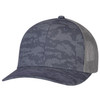 Charcoal/Slate - 8G017M Cotton Drill/Nylon Mesh Cap | Hats&Caps.ca