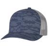 Navy/Slate - 8G017M Cotton Drill/Nylon Mesh Cap | Hats&Caps.ca