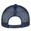 Navy/Navy - Back, 8G017M Cotton Drill/Nylon Mesh Cap | Hats&Caps.ca
