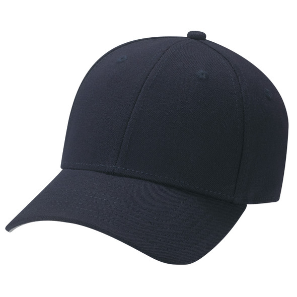 Midnight Navy - AC5005 Wool Blend & Spandex Cap | Hats&Caps.ca