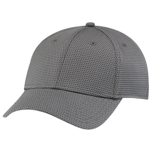 Charcoal - AC5032 Deluxe Polyester Fused Mesh Cap | Hats&Caps.ca