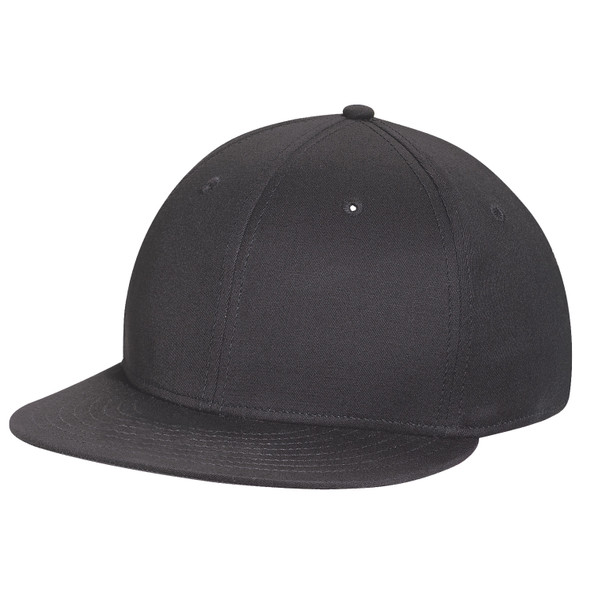 Black - AC5900 Cotton Drill & Spandex Fitted Cap | Hats&Caps.ca