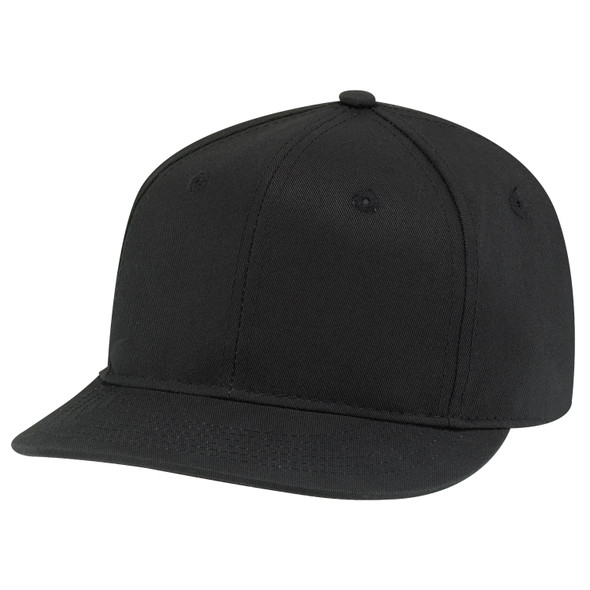 Black - 6F660M Deluxe Chino Twill Cap | Hats&Caps.ca