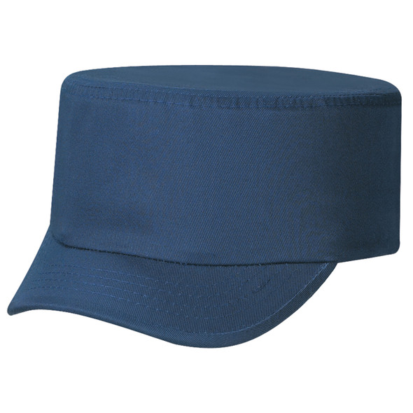 Navy - 6J360M Deluxe Blended Chino Twill 2 Panel Military Cap | Hats&Caps.ca