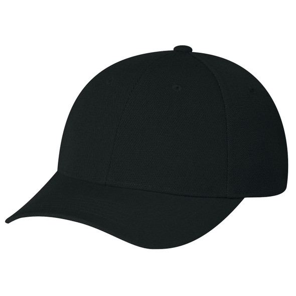 Black - 1260 Wool Serge Fitted Cap | Hats&Caps.ca