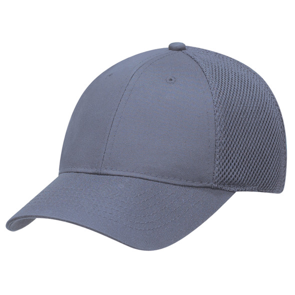 Charcoal - 5A990 Polycotton/Poly Honeycomb Mesh Adjust-a-Fit Cap | Hats&Caps.ca