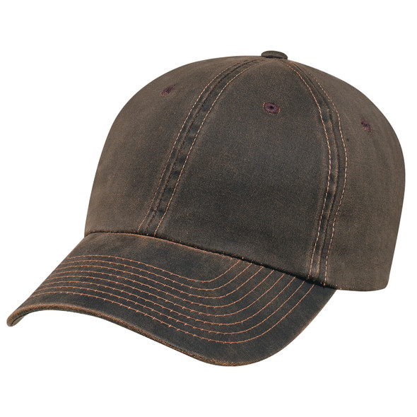 Brown - 7J470M Pigment Dyed Washed Polycotton Cap | Hats&Caps.ca