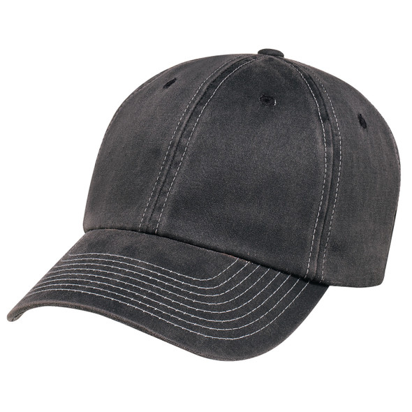 Black - 7J470M Pigment Dyed Washed Polycotton Cap | Hats&Caps.ca