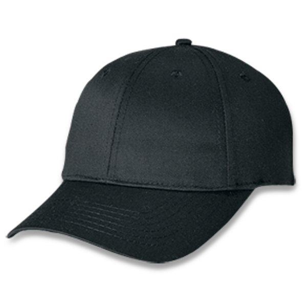 Black - Polycotton Cap | Hats&Caps.ca