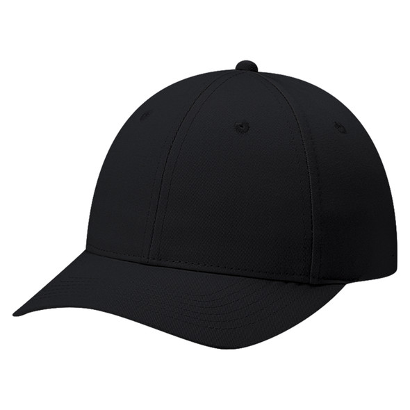 Black - 6J400M Deluxe Blended Chino Twill Cap   Hats&Caps.ca