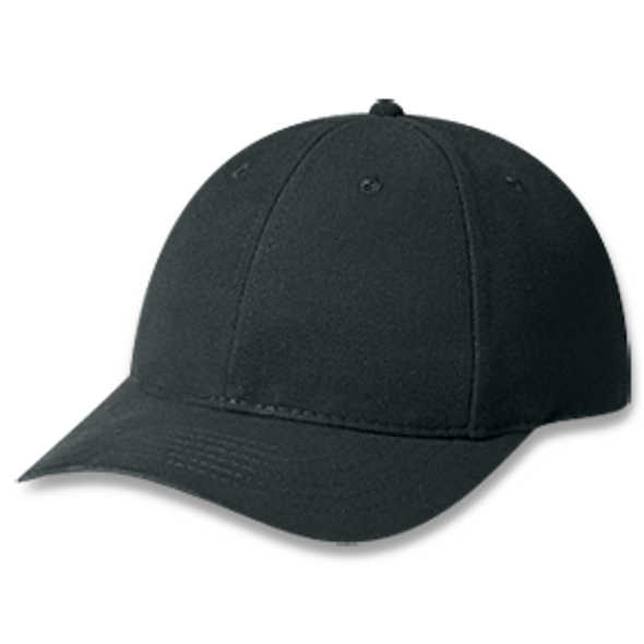 Black - Heavyweight Brushed Cotton Drill Cap | Hats&Caps.ca