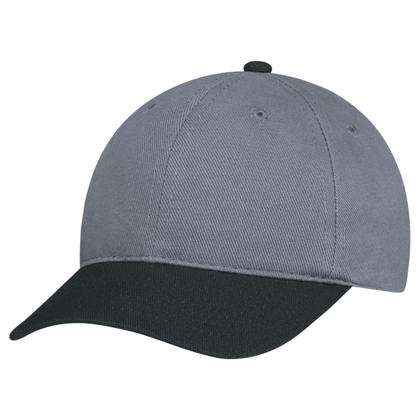 Black/Charcoal - 2C398M Dual Colour Heavyweight Brushed Cotton Drill Cap | Hats&Caps.ca