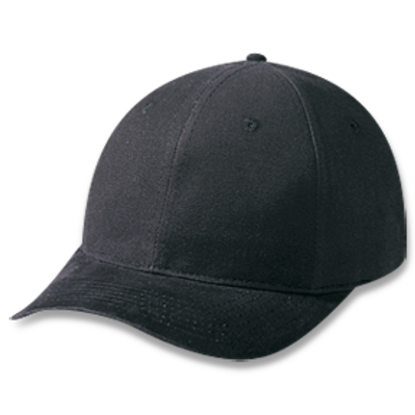 Black - 5D740M Brushed Cotton Drill Cap | Hats&Caps.ca