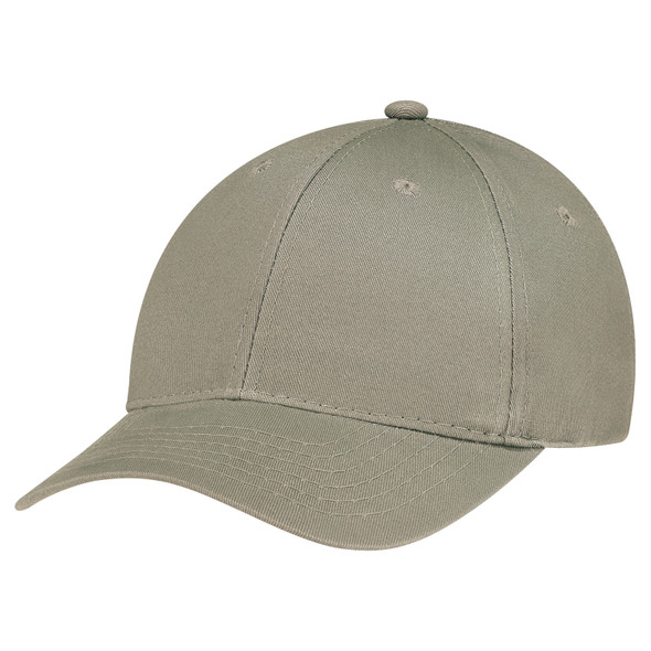Clay - 5D390M Cotton Drill Constructed Contour Cap | Hats&Caps.ca