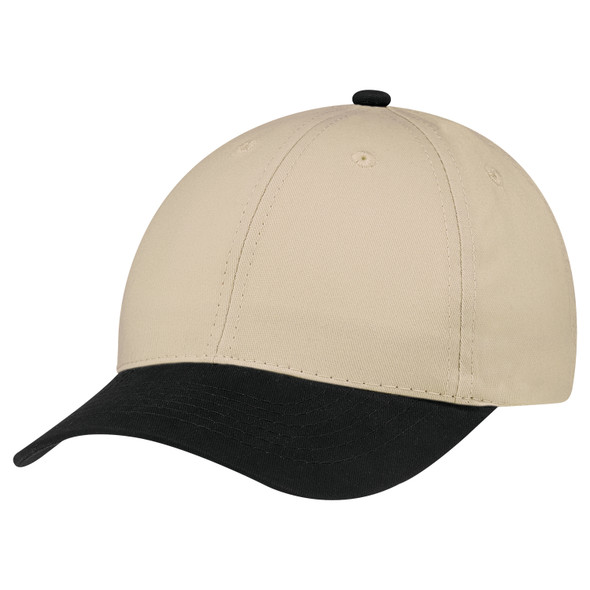 Black/Earth - 5D398M Dual Colour Brushed Cotton Drill Cap | Hats&Caps.ca