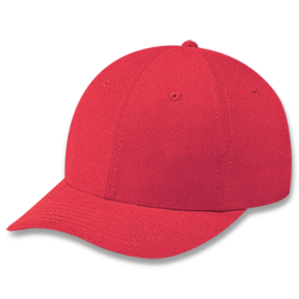 Red - Heavyweight Cotton Cap | Hats&Caps.ca