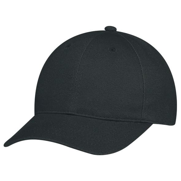 Black - 2C390B Youth Heavyweight Cotton Drill Cap | Hats&Caps.ca