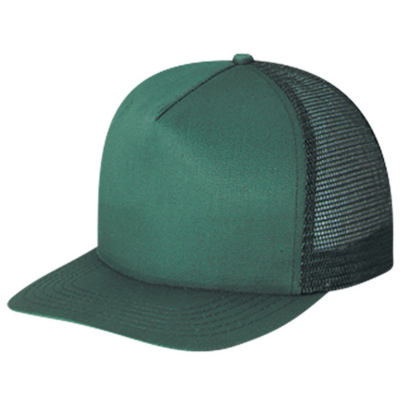 Forest Green - 5050M Mesh Back 5 Panel Cap | Hats&Caps.ca