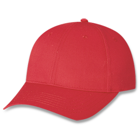 Red - 5390B Polycotton 6 Panel Youth Cap | Hats&Caps.ca